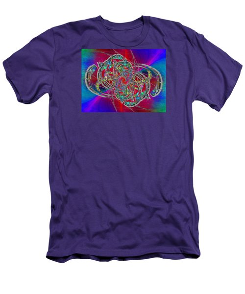 Men's T-Shirt (Slim Fit) featuring the digital art Abstract Cubed 367 by Tim Allen