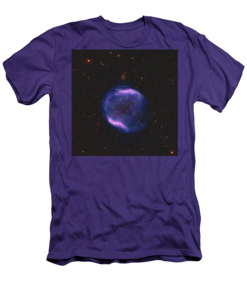Abstract Nebulla With Galactic Cosmic Cloud 43 Sphere 1 Men's T-Shirt (Athletic Fit)
