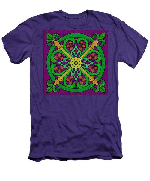 Acorn On Dark Purple Men's T-Shirt (Slim Fit) by Curtis Koontz