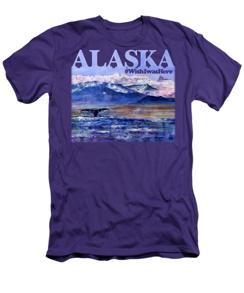 Alaskan Landscape On Water Shirt Men's T-Shirt (Athletic Fit)