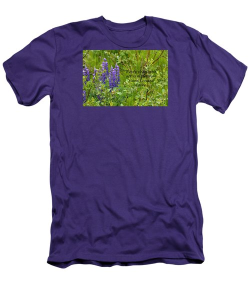 Men's T-Shirt (Slim Fit) featuring the photograph Alaskan Lupine Heaven by Diane E Berry