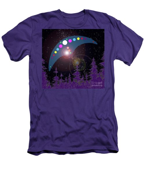 Men's T-Shirt (Slim Fit) featuring the painting Alien Skies by James Williamson