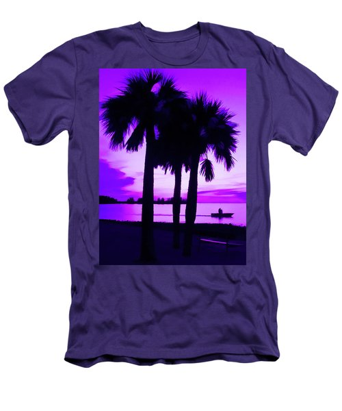 Men's T-Shirt (Athletic Fit) featuring the photograph Amethyst Beach Sunset by Aimee L Maher Photography and Art Visit ALMGallerydotcom