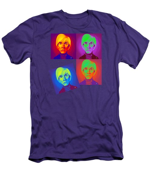 Andy Warhol On Andy Warhol Men's T-Shirt (Slim Fit) by Rob Snow