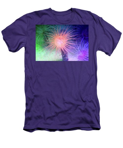 Men's T-Shirt (Slim Fit) featuring the photograph Anemone Color by Anthony Jones