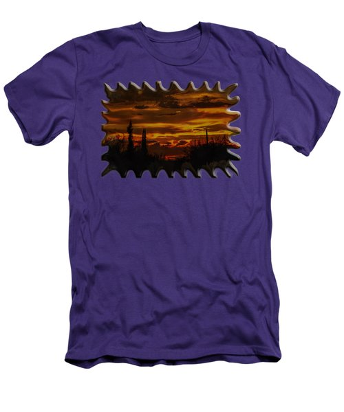 Sunset No.16 Men's T-Shirt (Slim Fit) by Mark Myhaver