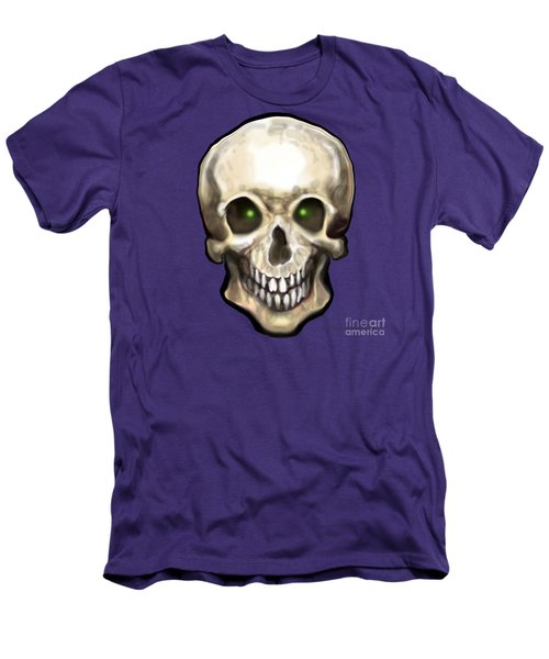 Men's T-Shirt (Slim Fit) featuring the painting Skull by Kevin Middleton
