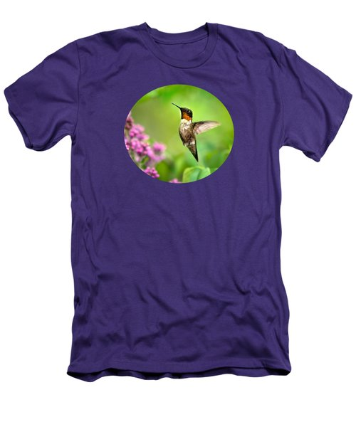 Welcome Home Hummingbird Men's T-Shirt (Slim Fit) by Christina Rollo