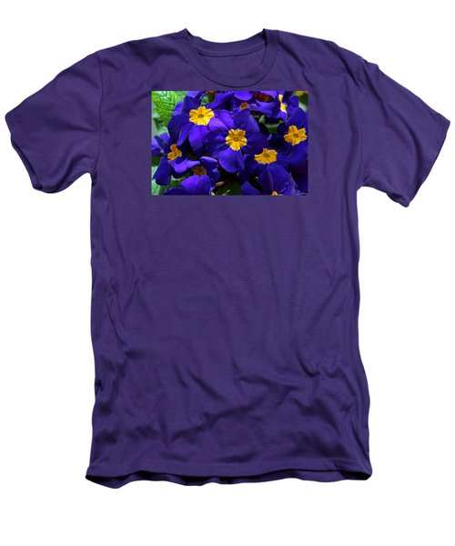 Azure Primrose Men's T-Shirt (Slim Fit) by Michiale Schneider