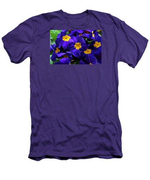 Men's T-Shirt (Slim Fit) featuring the photograph Azure Primrose by Michiale Schneider