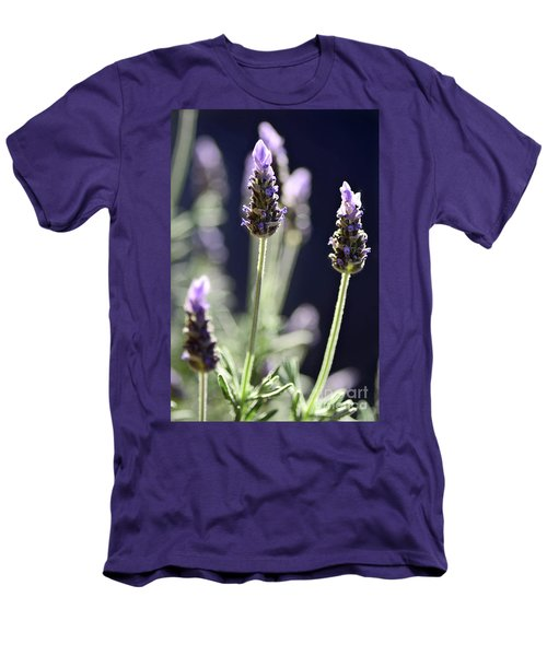 Men's T-Shirt (Athletic Fit) featuring the photograph Backlit Lavender By Kaye Menner by Kaye Menner