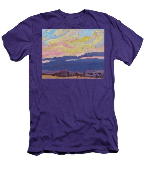 Beaver Sunset Men's T-Shirt (Athletic Fit)