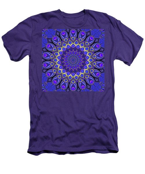 Men's T-Shirt (Slim Fit) featuring the digital art Bella - Purple by Wendy J St Christopher