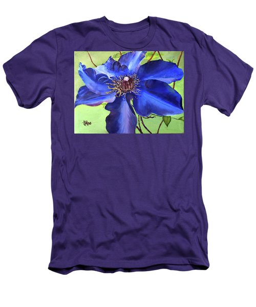 Blue Clematis Men's T-Shirt (Athletic Fit)
