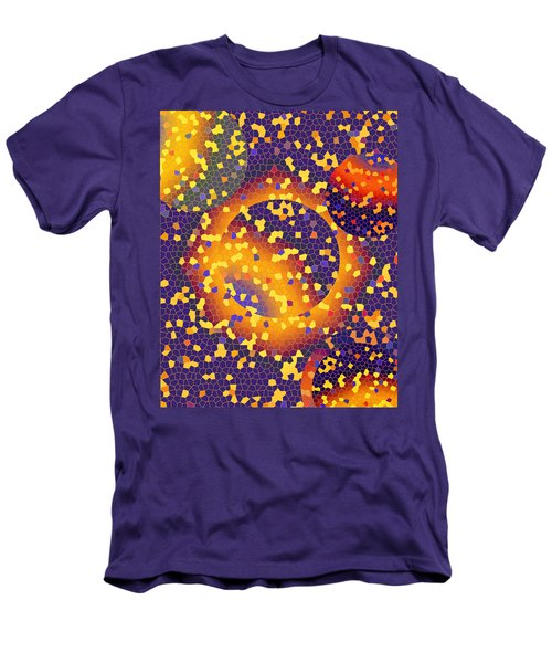 Men's T-Shirt (Slim Fit) featuring the digital art Blue Galaxy by Lynda Lehmann