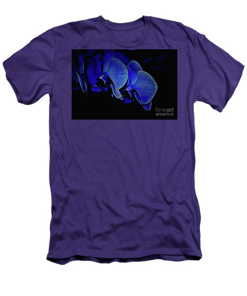 Blue Light Men's T-Shirt (Slim Fit) by Diana Mary Sharpton