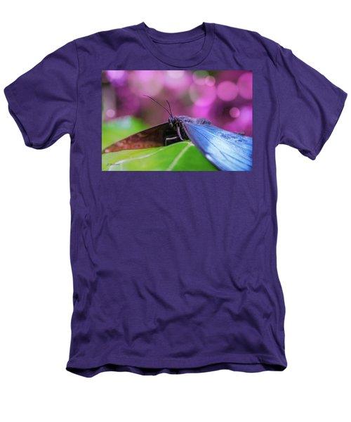 Blue Morpho  Butterfly 2 Men's T-Shirt (Athletic Fit)