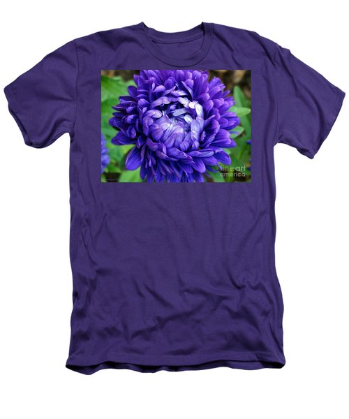 Blue Petals Men's T-Shirt (Slim Fit) by Gena Weiser