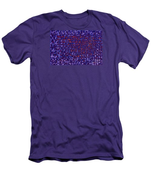 Blue Red Purples Men's T-Shirt (Athletic Fit)