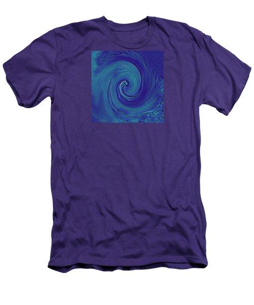 Blue Wave Men's T-Shirt (Slim Fit) by Kerri Ligatich