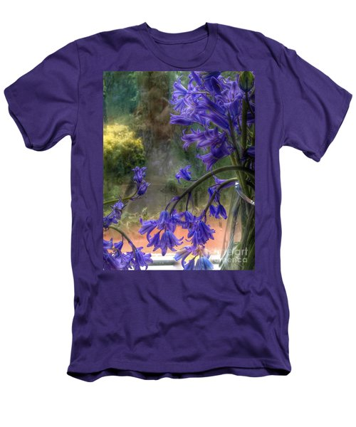 Bluebells In My Garden Window Men's T-Shirt (Athletic Fit)