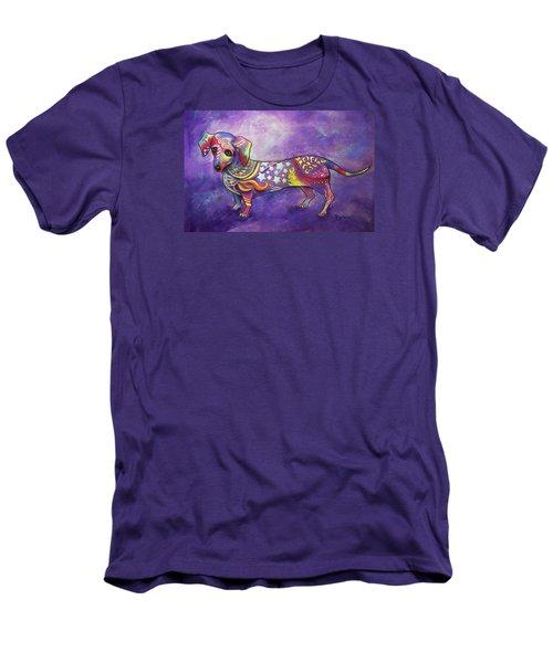 Dachshund Men's T-Shirt (Slim Fit) by Patricia Lintner