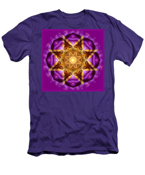 Men's T-Shirt (Slim Fit) featuring the painting Buddha Mandala by Sue Halstenberg