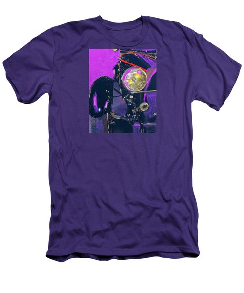 Bugatti Abstract Purple Men's T-Shirt (Slim Fit)