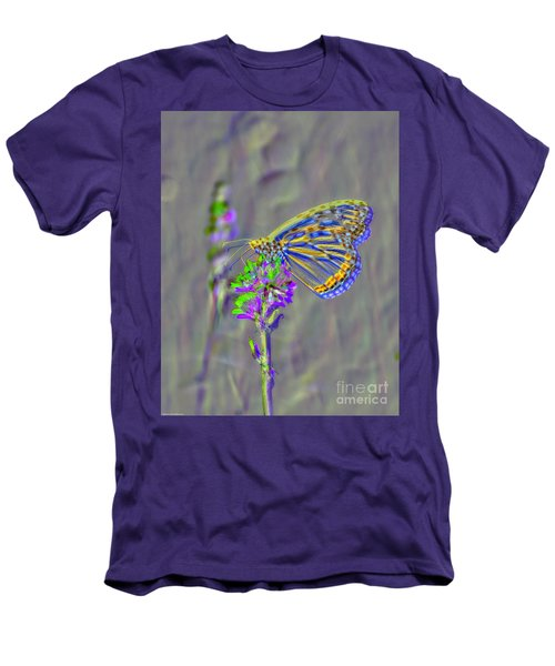 Men's T-Shirt (Slim Fit) featuring the photograph Butterfly Study by Mitch Shindelbower