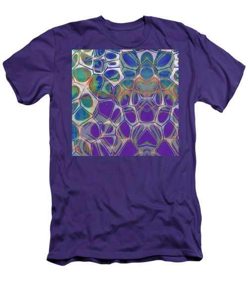 Cell Abstract 17 Men's T-Shirt (Slim Fit) by Edward Fielding