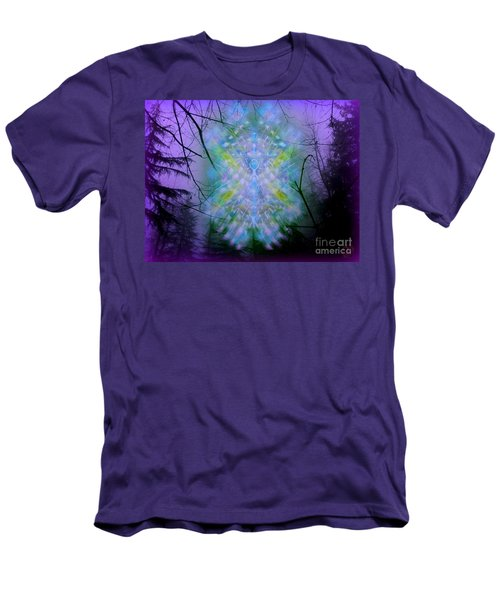 Men's T-Shirt (Slim Fit) featuring the digital art Chalice-tree Spirit In The Forest V1a by Christopher Pringer