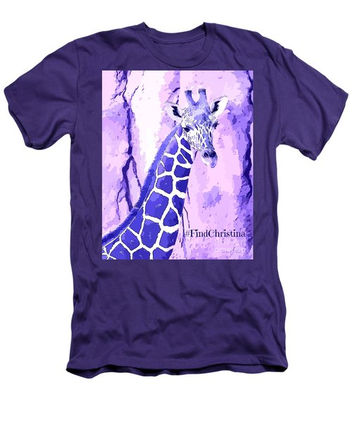 Christina's Giraffe Men's T-Shirt (Slim Fit) by Robert ONeil