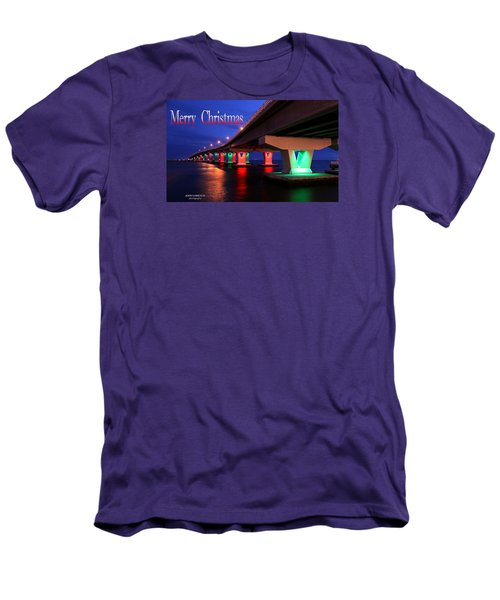 Christmas Bridge Men's T-Shirt (Slim Fit) by John Loreaux