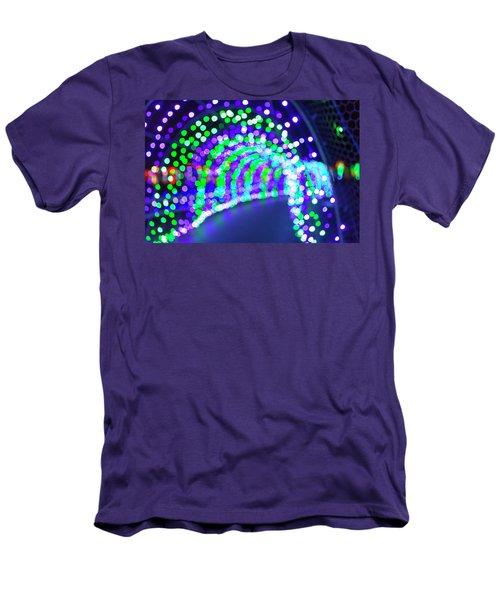 Christmas Lights Decoration Blurred Defocused Bokeh Men's T-Shirt (Athletic Fit)
