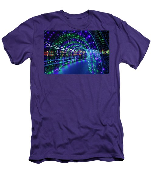 Christmas Lights In Tunnel At Lafarge Lake Men's T-Shirt (Athletic Fit)