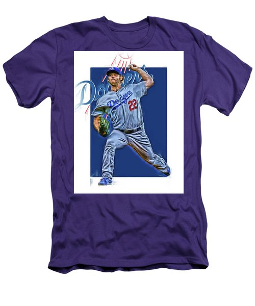 Clayton Kershaw Los Angeles Dodgers Oil Art Men's T-Shirt (Athletic Fit)