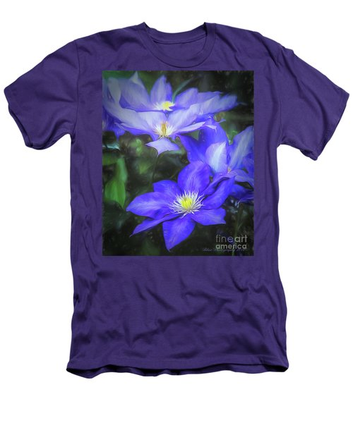 Men's T-Shirt (Slim Fit) featuring the photograph Clematis by Linda Blair