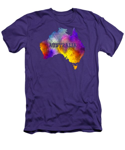 Colorful Australia Men's T-Shirt (Athletic Fit)