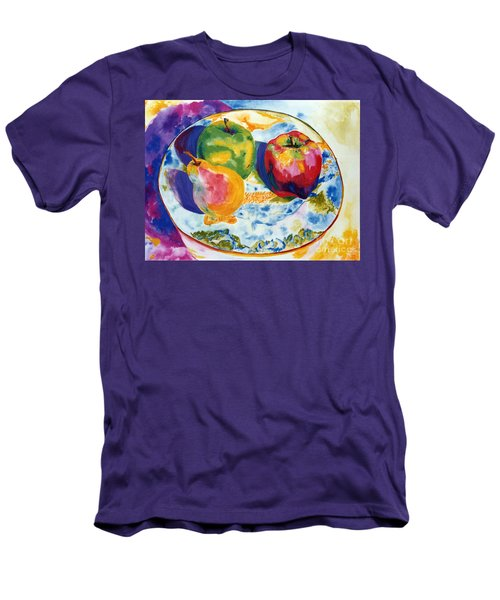 Colourful Trio Men's T-Shirt (Slim Fit) by Lisa Boyd