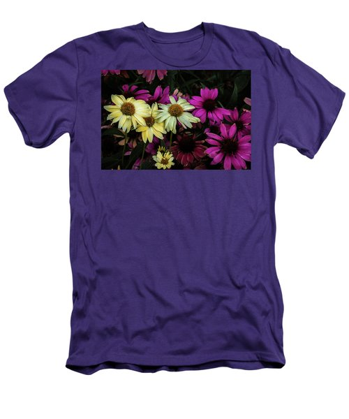 Men's T-Shirt (Slim Fit) featuring the photograph Coneflowers by Jay Stockhaus