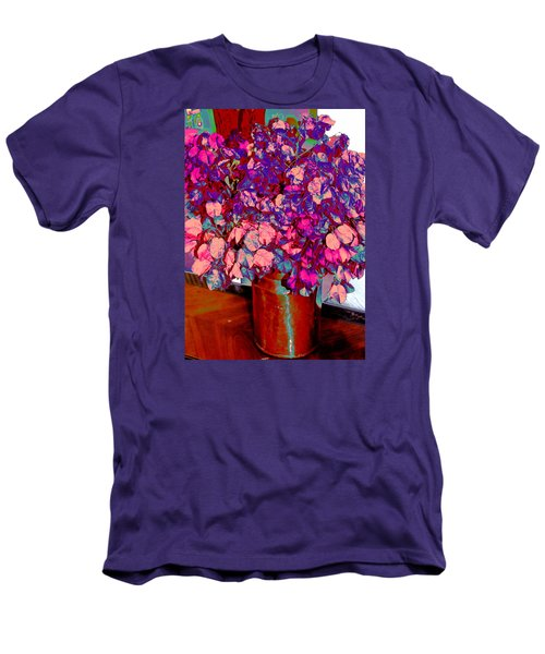 Men's T-Shirt (Slim Fit) featuring the photograph Copper Vase Floral by M Diane Bonaparte