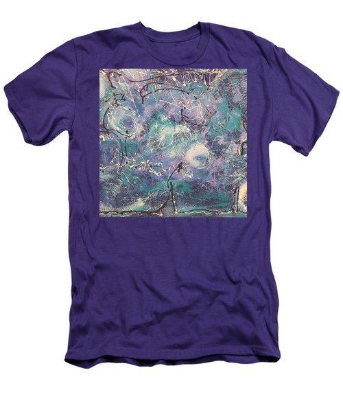 Cosmic Abstract Men's T-Shirt (Slim Fit) by Gallery Messina