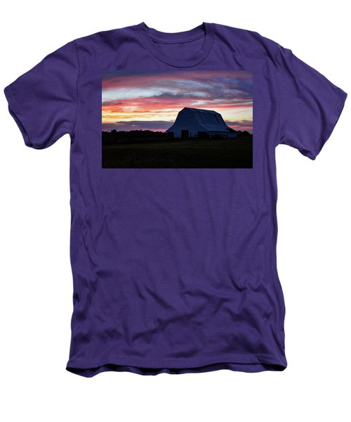 Men's T-Shirt (Slim Fit) featuring the photograph Country Sunset by Cricket Hackmann