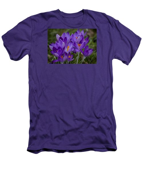 Crocus Cluster Men's T-Shirt (Slim Fit) by Shirley Mitchell
