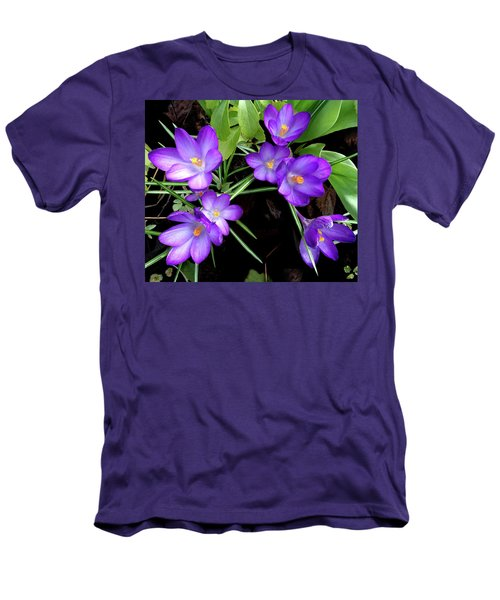 Crocus First To Bloom Men's T-Shirt (Slim Fit) by Tara Hutton