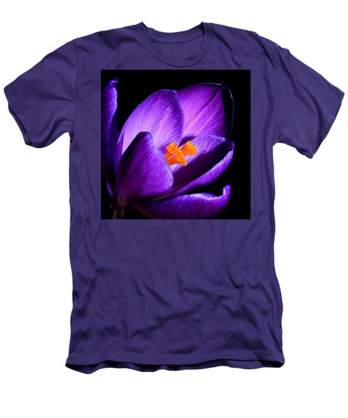 Crocus Men's T-Shirt (Slim Fit) by Tammy Schneider