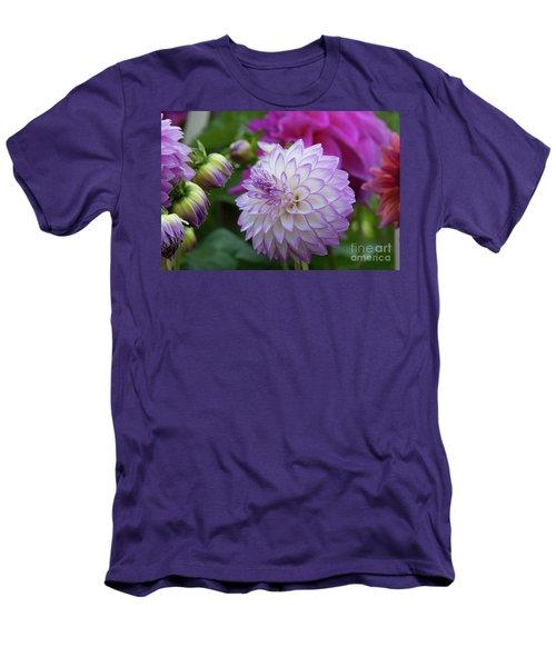 Dahlia Men's T-Shirt (Slim Fit) by Glenn Franco Simmons