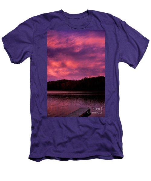 Men's T-Shirt (Slim Fit) featuring the photograph Dawn At The Dock by Thomas R Fletcher