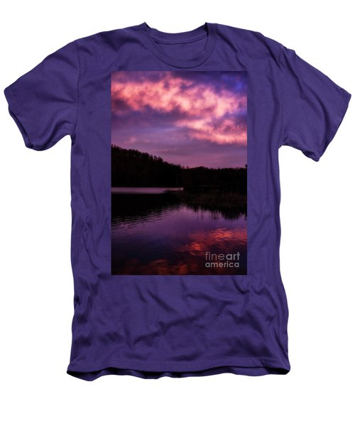 Men's T-Shirt (Slim Fit) featuring the photograph Dawn Big Ditch Wildlife Management Area by Thomas R Fletcher