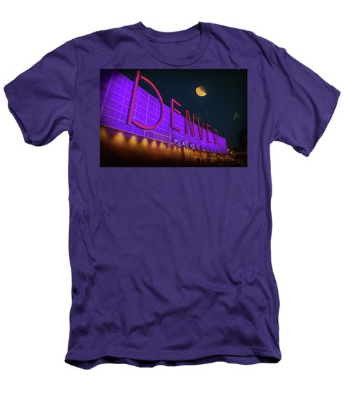 Men's T-Shirt (Slim Fit) featuring the photograph Denver Pavilion At Night by Kristal Kraft